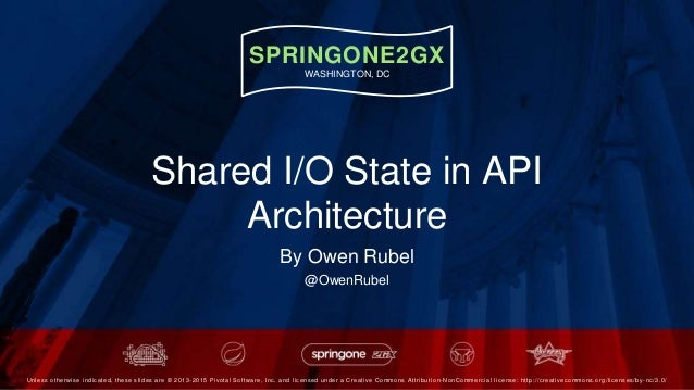 SPRINGONE2GX WASHINGTON, DC Unless otherwise indicated, these slides are © 2013 -2015 Pivotal Software, Inc. and licensed ...