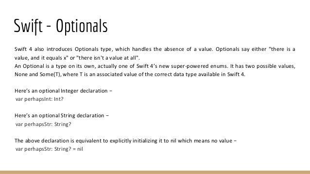 Basic iOS Training with SWIFT - Part 1