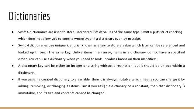 Basic iOS Training with SWIFT - Part 2