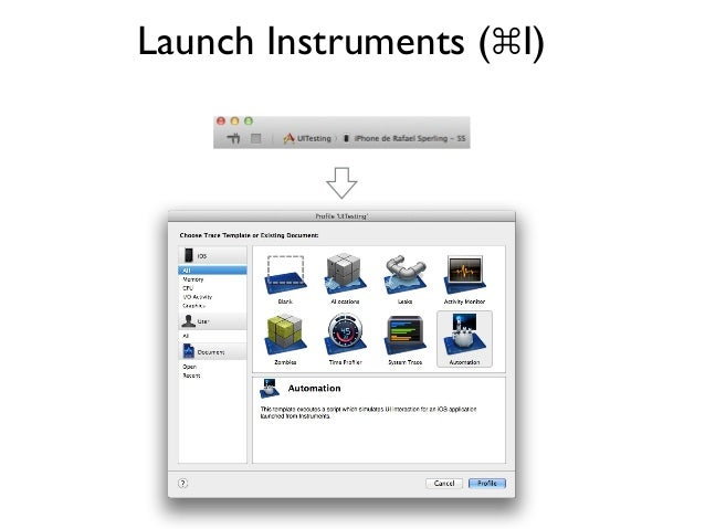 Launch Instruments (⌘I)
