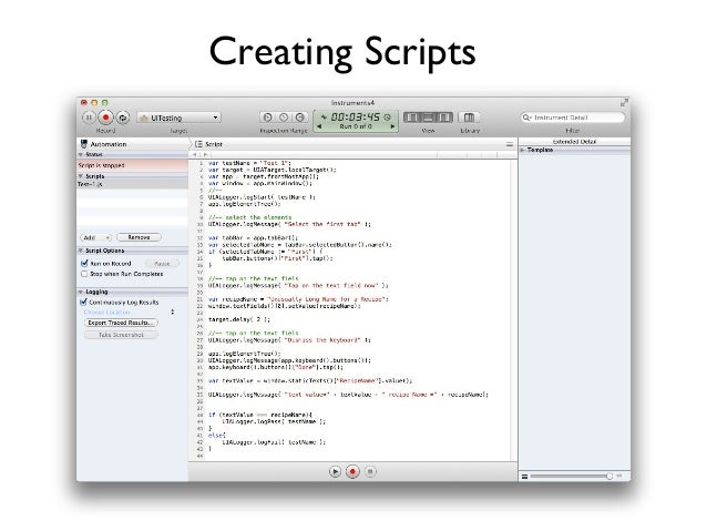 Creating Scripts