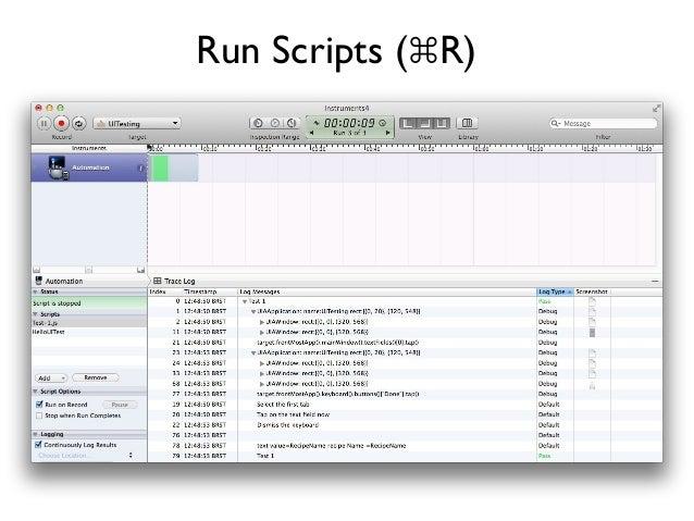 Run Scripts (⌘R)
