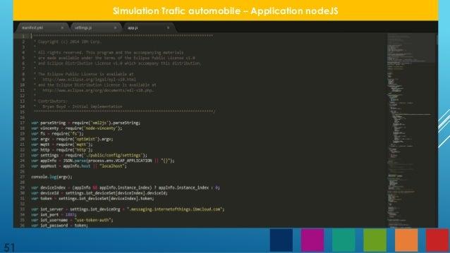 51 simulation trafic automobile application nodejs 51