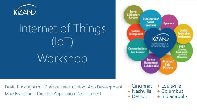 + Cincinnati + Louisville + Nashville + Columbus + Detroit + Indianapolis David Buckingham – Practice Lead, Custom App Dev...