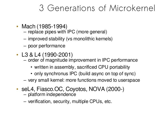 how to build a microkernel