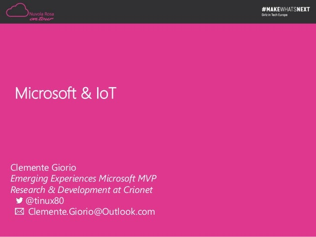 Microsoft & IoT Slide 3