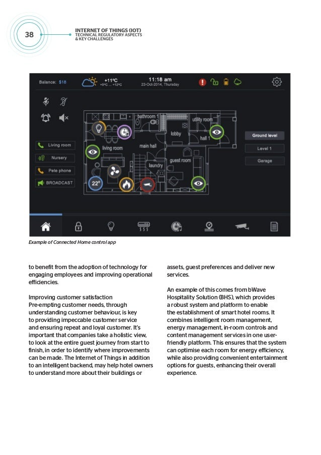 39 Example of Security and Safety App with Integration to SmartCity Intelligent Operation Centres (IoC) Example of Home Vi...