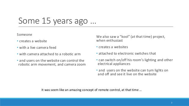 Internet of Things 101 - For software engineers Slide 2