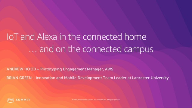 IoT and Alexa in the connected home