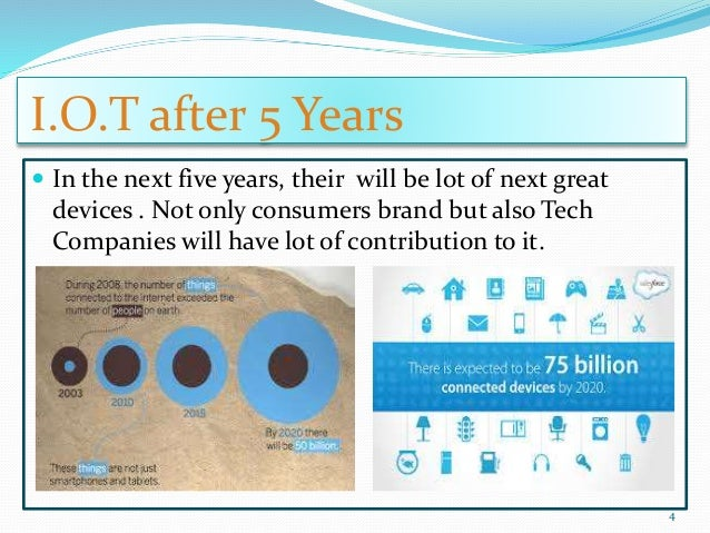 I.O.T after 5 Years  In the next five years, their will be lot of next great devices . Not only consumers brand but also ...