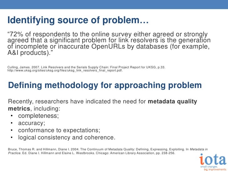 """Identifying source of problem…""""72% of respondents to the online survey either agreed or stronglyagreed that a significant ..."""