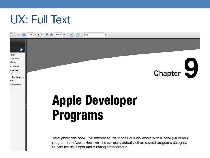 UX: Full Text