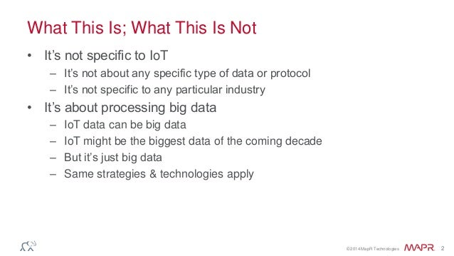 IoT and Big Data - Iot Asia 2014 Slide 2