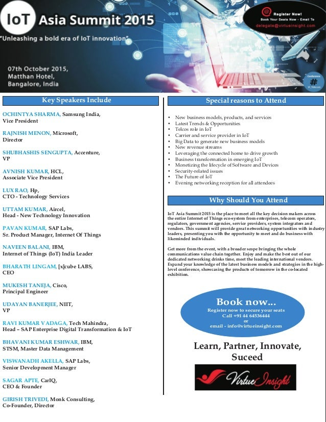 Samsung India, Vice President Microsoft, Director Accenture, VP HCL, Associate Vice President Hp, CTO - Technology Service...