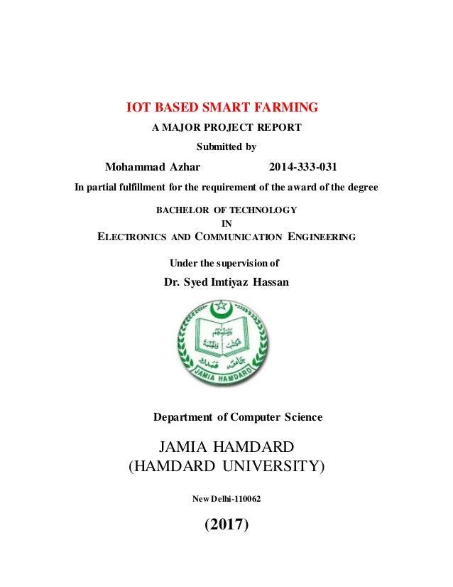 Iot based smart farming