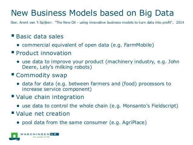 """New Business Models based on Big Data See: Arent van 't Spijker: """"The New Oil - using innovative business models to turn d..."""