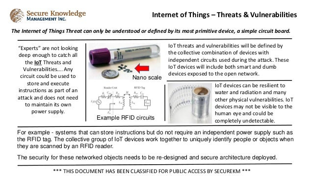 The Internet of Things Threat can only be understood or defined by its most primitive device, a simple circuit board. Inte...