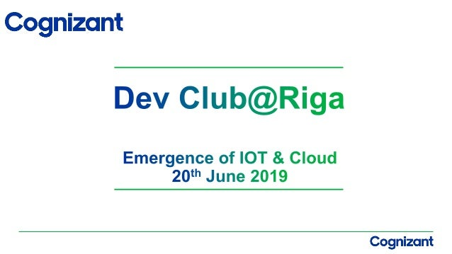 Agenda  What is IOT  IOT Market & Share  IOT Devices  What is Cloud Computing  Why the Cloud for IOT  Azure IOT Solu...