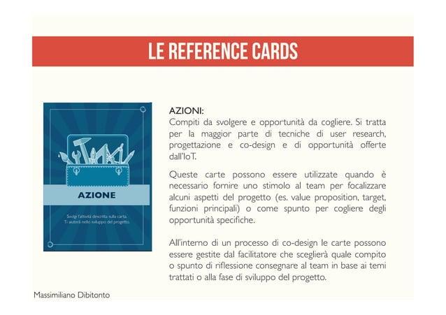 LE REFERENCE CARDS AZIONI: Compiti da svolgere e opportunità da cogliere. Si tratta per la maggior parte di tecniche di us...