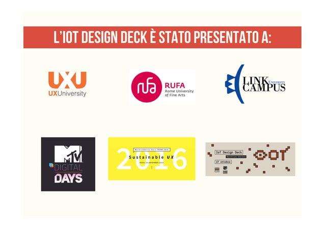 L'iot design deck è stato presentato a: