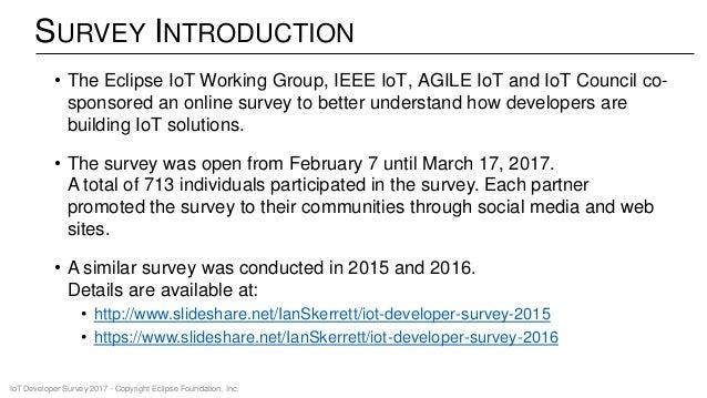 IoT Developer Survey 2017 Slide 2