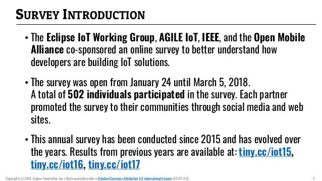 IoT Developer Survey 2018 Slide 2