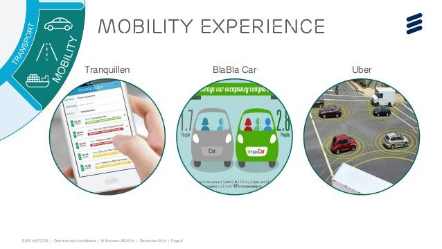 EAB-14:073751 | Commercial in confidence | © Ericsson AB 2014 | December 2014 | Page 8  Mobility Experience  Tranquillen B...