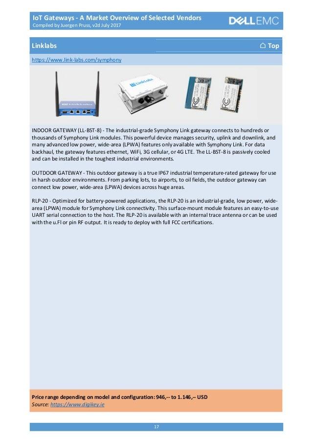 IoT Gateways - A Market Overview of Selected Vendors v2d