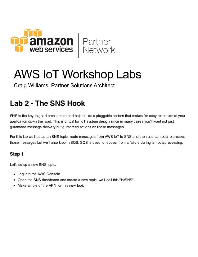 AWS IoT 핸즈온 워크샵 - 실습 2  SNS 연동과 Lambda로 메시지