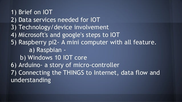 IOT Hands On