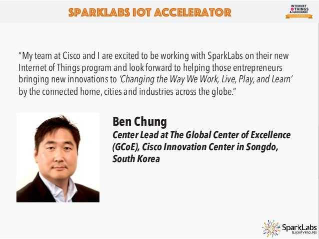 • SparkLabs Accelerator SparkLabs (www.sparklabs.co.kr) accelerator is a separate but affiliated entity of SparkLabs Globa...