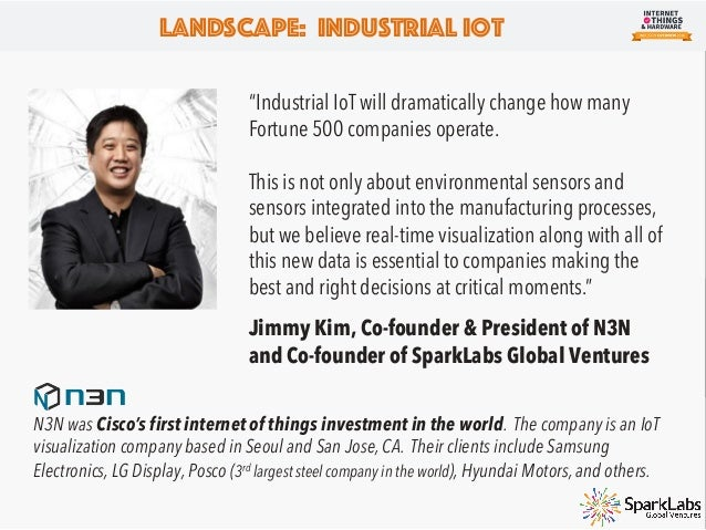 Landscape: Industrial IoT Industrial Internet of Things Industrial IoT has the potential to be bigger than the consumer sp...