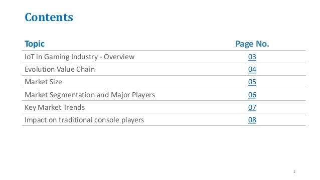 IoT in gaming industry report