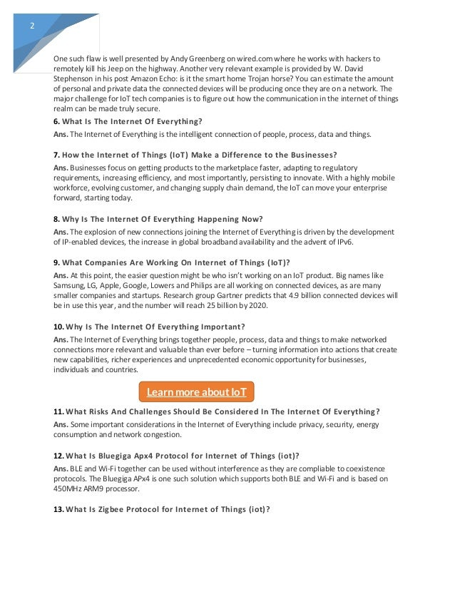 Get] 2018 Top IoT Interview Question and Answers PDF