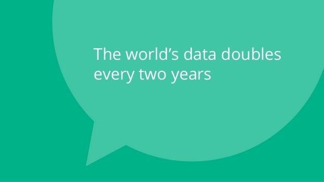 The world's data doubles every two years
