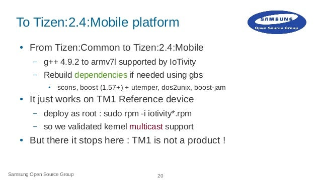 IoTivity on Tizen: How to Slide 20