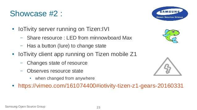 IoTivity on Tizen: How to Slide 23