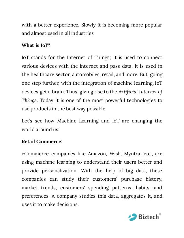 Io t + machine learning changing the paradigm of technology Slide 3