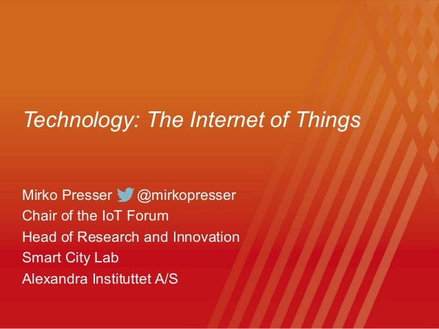 Iot Overview 2014