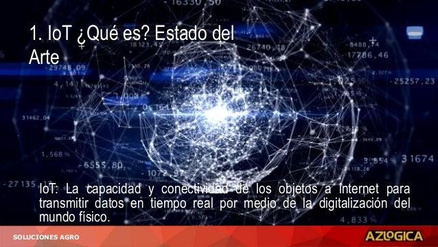 1. IoT ¿Qué es? Estado del Arte IoT: La capacidad y conectividad de los objetos a internet para transmitir datos en tiempo...