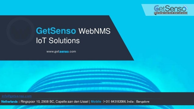 GetSenso IOT platform & Monitoring Solutions presentation 2.0 Slide 1