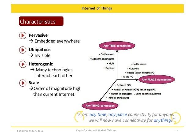 Internet of Things  CharacterisOcs   Pervasive       Embedded  everywhere   Ubiquitous       Invisible...