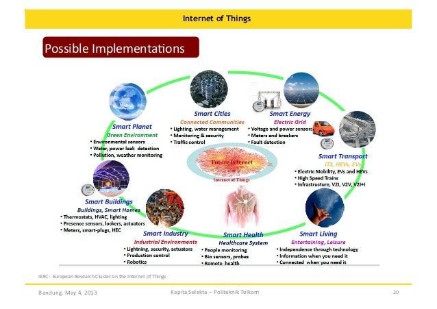 Internet of Things  Possible  ImplementaOons    IERC  -‐  European  Research  Cluster  on  the  Interne...