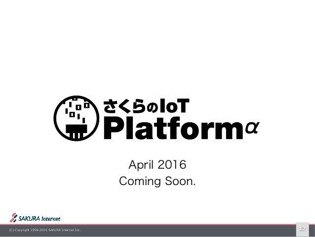 (C) Copyright 1996-2016 SAKURA Internet Inc. 17 April 2016 Coming Soon.