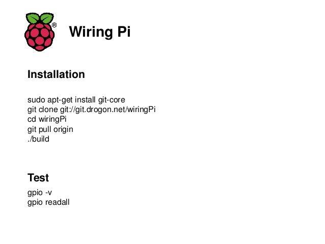 raspberrypi iot lab to switch on and off a light bulb rh slideshare net Windows Apt-Get sudo apt-get wiringpi