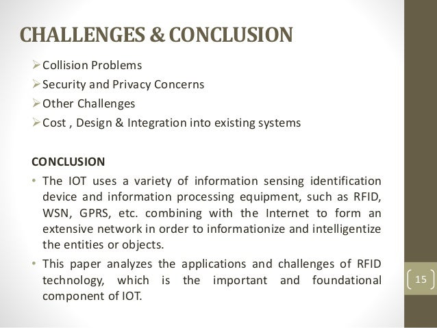 Internet Of Things And Its Enabling Technologies Rfid