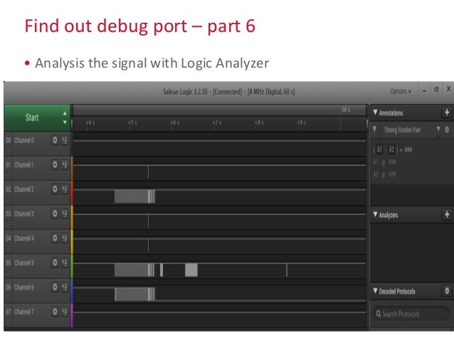 Find out debug port – part 6 • Analysis the signal with Logic Analyzer