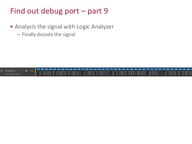 Find out debug port – part 9 • Analysis the signal with Logic Analyzer – Finally decode the signal