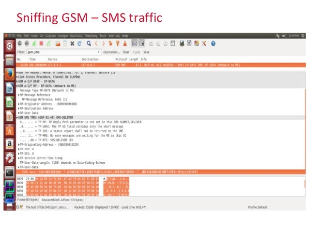 Sniffing GSM – SMS traffic