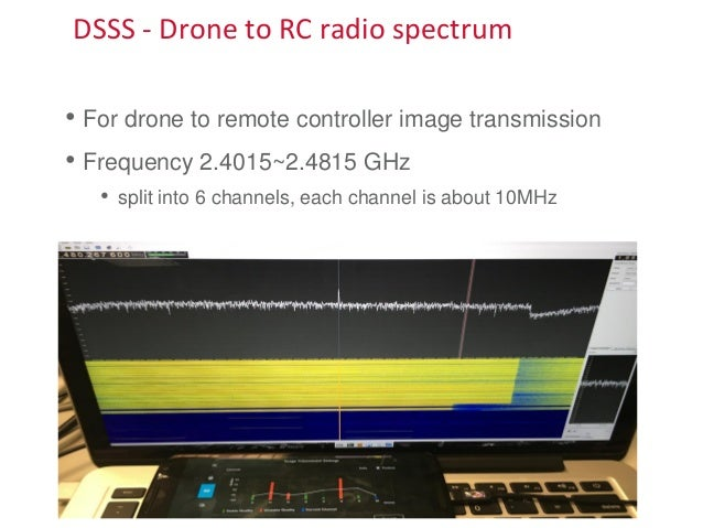 DSSS - Drone to RC radio spectrum • For drone to remote controller image transmission • Frequency 2.4015~2.4815 GHz • spli...